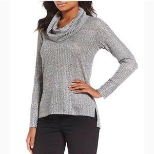 Jones NY Silver Cowlneck Sweater